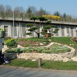 Muret en pierre de l'Yonne - Aménagement de jardins